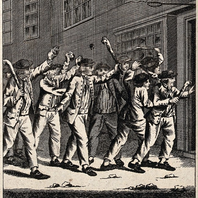 Enraged Bohmian Mechanics enthusiasts approach the comment section (Source: Wellcome Collection)