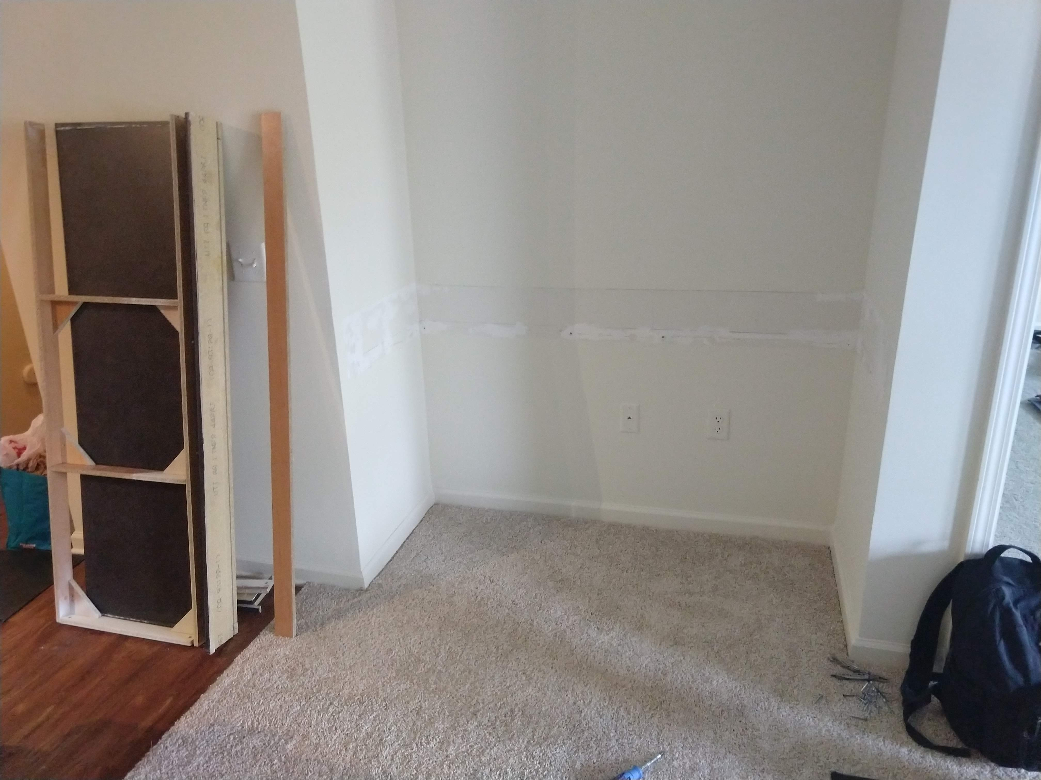 Success! Wall required a good bit of drywall mud & sanding.